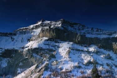 Diablerets and Moon