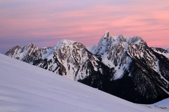Coucher de soleil depuis les Monts Chevreuils