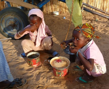 Little girls in Ndem