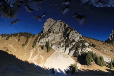Linleu se reflétant dans le lac Arvouin