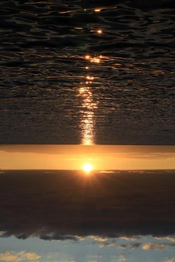 Sunset is rising